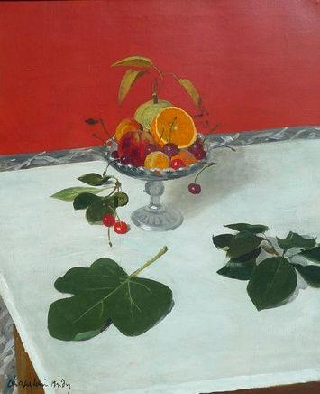 Roger Chapelain-Midy, Still life with fruit in a glass bowl