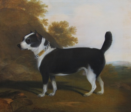 G. B. Newmarch, Terrier in a landscape