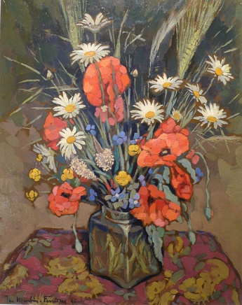 Jacques Martin Ferrieres, Poppies and mixed flowers