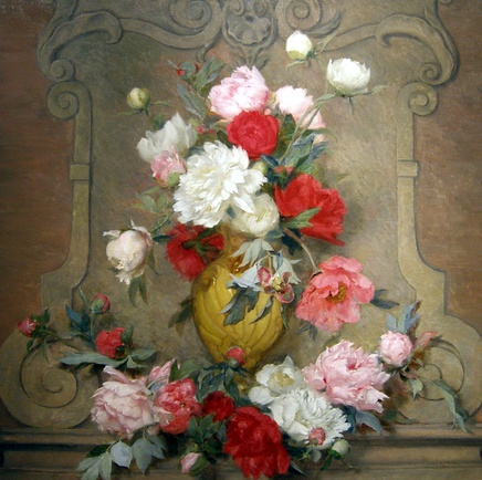 Paul-Claude Jance, Peonies on a ledge