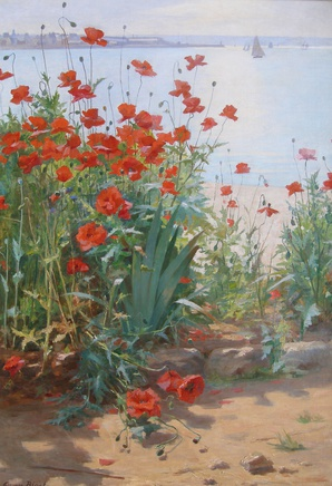 Georges Binet, Poppies on the coast