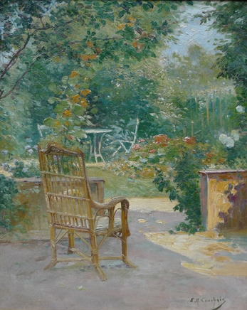 Eugene Henri Cauchois, Morning in the garden , c.1890