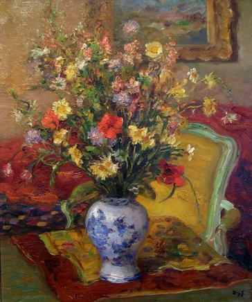 Marcel Dyf, Still life with flowers