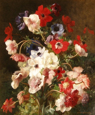 Jean Benner, A pair of flower paintings: II: Mixed flowers