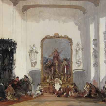 David Roberts RA - A Continental Church Interior
