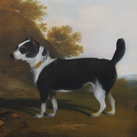 G. B. Newmarch - Terrier in a landscape