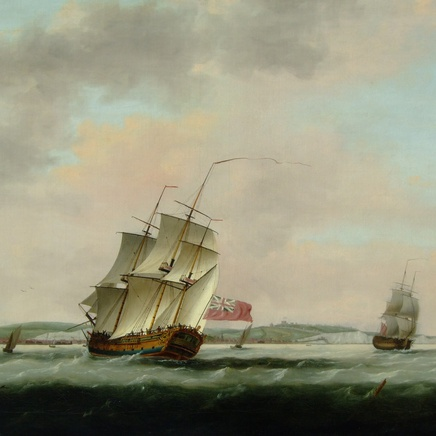 Thomas Luny - Shipping off Dover