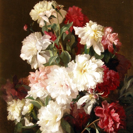 Jean Benner - A pair of flower paintings: I: Study of Roses