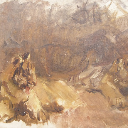 Max Slevogt - Study of Lions