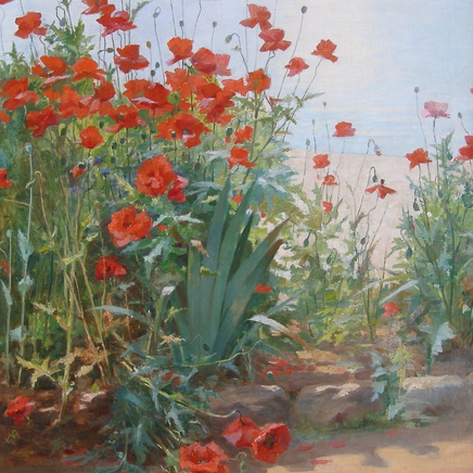 Georges Binet - Poppies on the coast