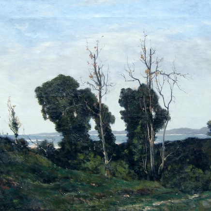 Henri-Joseph Harpignies - Landscape in Evening Light