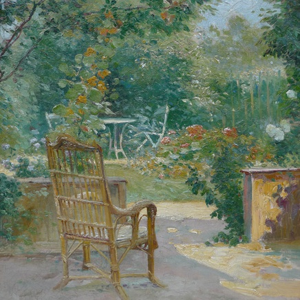 Eugene Henri Cauchois - Morning in the garden