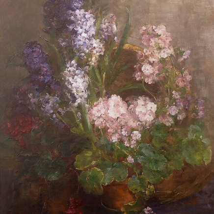 Johanna Von Destouches - Hyacinths and Primulas