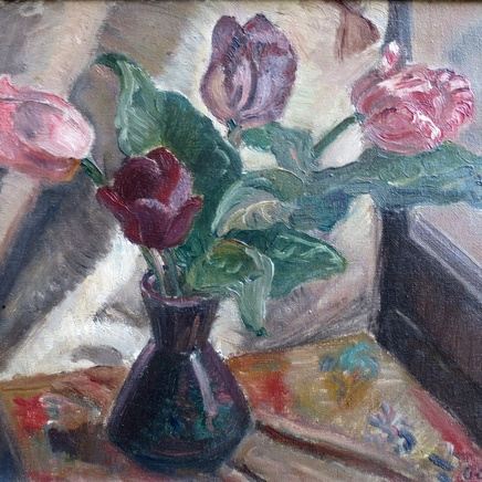 Manuel Ortiz De Zarate - Flowers in a Vase