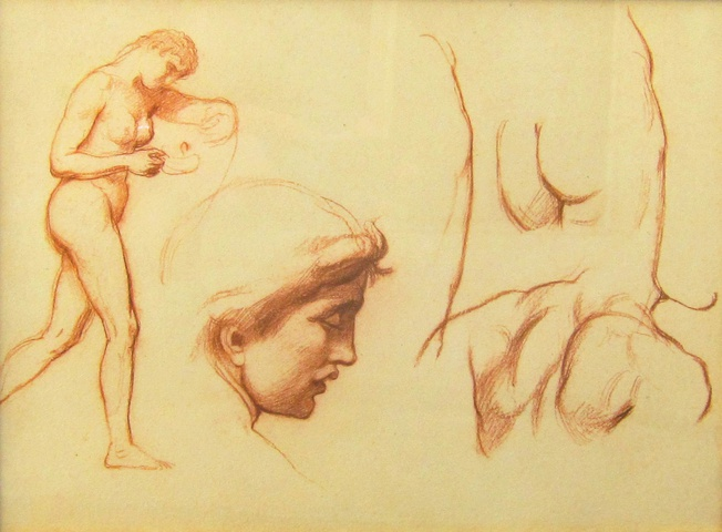 Study for 'Behold the Bridegroom Cometh' or 'The Ten Virgins'