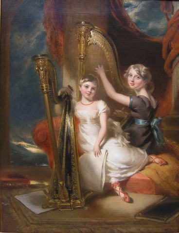 Portrait of Louisa and Eliza Sharpe
