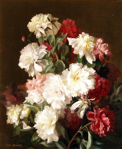 A pair of flower paintings: I: Study of Roses
