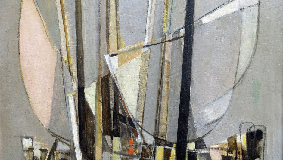 Georges Dayez  (1907 - 1991)  Sailing Boats  Oil on canvas, signed  20 x 24 inches, canvas size  25.5. x 29.5 inches framed size